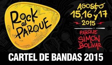 Aquí el cartel completo de las bandas que participaran en Rock al Parque 2015