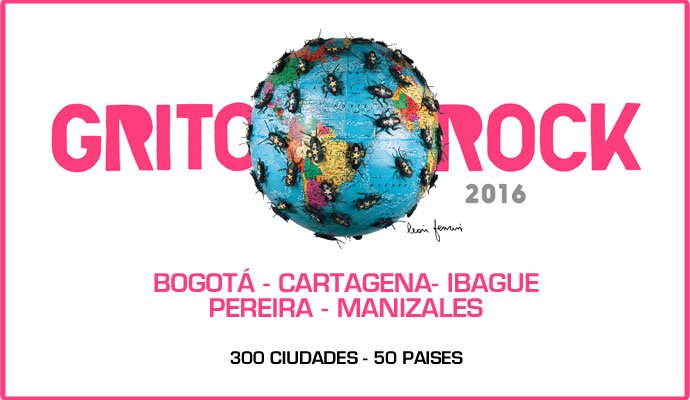 El festival Grito Rock llega por primera vez a Colombia