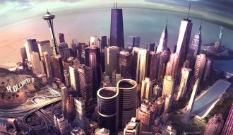 "Arte del nuevo disco de Foo Fighters ""Sonic Highways"""