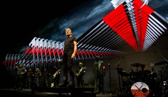 Imagen de Roger Waters durante su gira The Wall