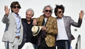 Foto: The Rolling Stones en su arribo a Uruguay